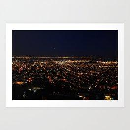 San Francisco Skyline at Night Art Print