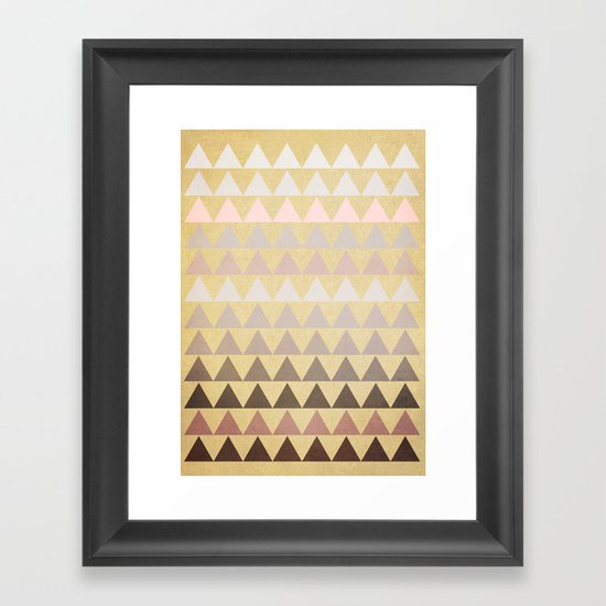 Muted Triangles Framed Art Print