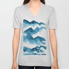 Mountain blue Unisex V-Neck