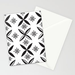 UrbanNesian Black Siapo Stationery Cards