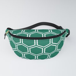 Teal green and white honeycomb pattern Fanny Pack