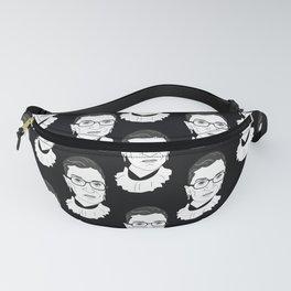 Ruth Bader Ginsburg, Large BW Pattern Fanny Pack