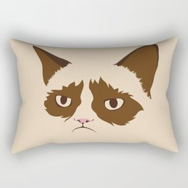 Grumpy Cat, Minimalist in Four Colors Rectangular Pillow