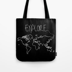 Explore World Map Tote Bag