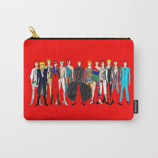 Red Bowie Group Fashion Outfits Carry-All Pouch