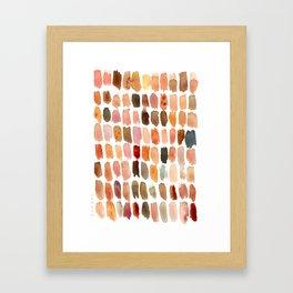 SKIN SWATCHES Watercolor Brushstrokes Framed Art Print