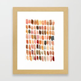 SKIN SWATCHES Watercolor Brushstrokes Framed Art Print