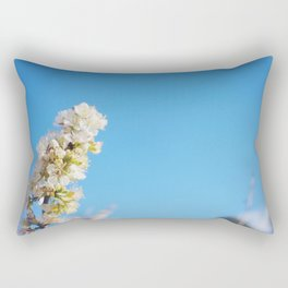 Blue Blossom Rectangular Pillow
