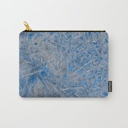 Blue Ice Texture Carry-All Pouch