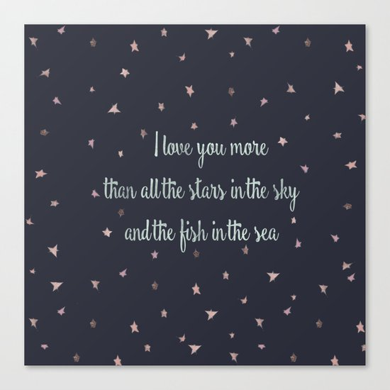 Love and the stars Canvas Print