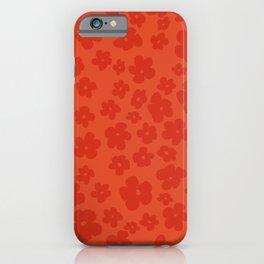 Red Retro Flowers iPhone Case