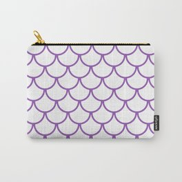 Purple Fish Scales Pattern Carry-All Pouch