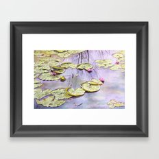 Reflection, watercolor Framed Art Print