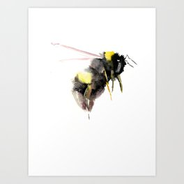 Bumblebee, bee art, bee design Art Print