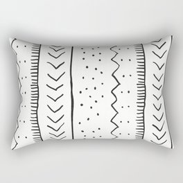 Moroccan Stripe in Cream and Black Rectangular Pillow