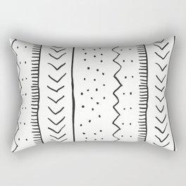 Moroccan Stripe in Cream and Black Rectangular Pillow