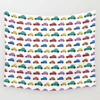 cars Wall Tapestries featuring Italian cars  by Katerina Izotova Art Lab
