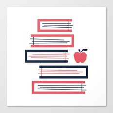 Stacked Books Canvas Print