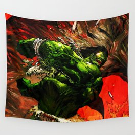 Rampage green full power Wall Tapestry