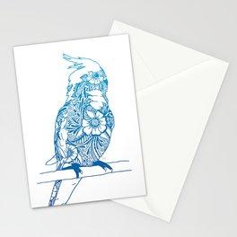 Henna Cockatiel - White background Stationery Cards