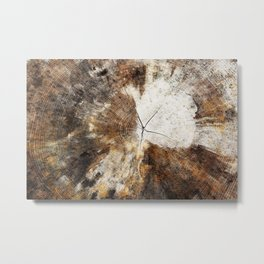 Tree Stump Ring Metal Print