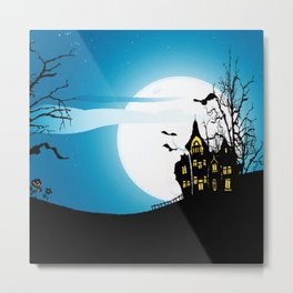 Happy Nightmare Halloween Metal Print