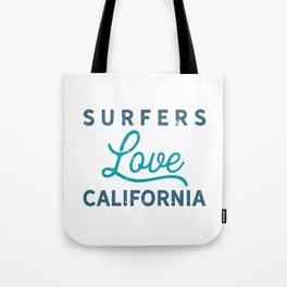 Surfers Love California Tee Tote Bag