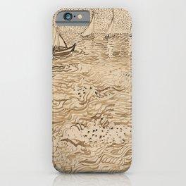 Vincent van Gogh - Boats at Saintes-Maries iPhone Case