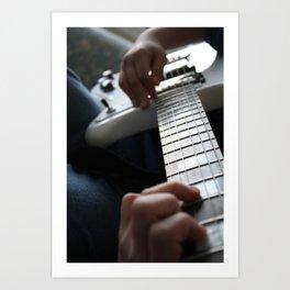 Hands on guitar Art Print