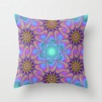 meditation Throw Pillows featuring Meditation by David Zydd