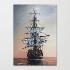 Sunset Arrival Canvas Print