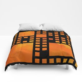 Visopolis V1 - orange flames Comforters