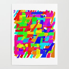 Rainbow - lines Poster