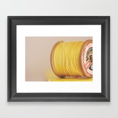 y is for yellow Framed Art Print