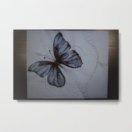 On Dotted Wings Metal Print