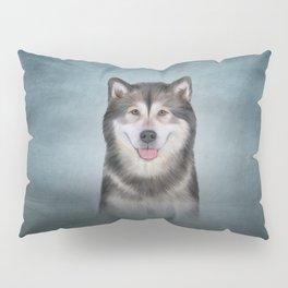 Drawing Dog Alaskan Malamute 12 Pillow Sham
