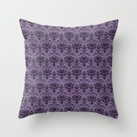 haunted mansion Throw Pillows featuring The Haunted Mansion by GeekCircus