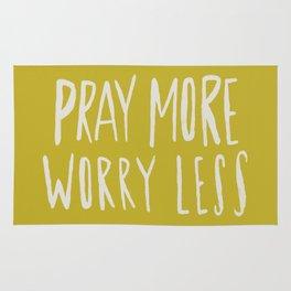Pray More x Mustard Rug