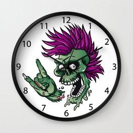 Punk zombie Wall Clock