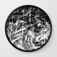 destiny Wall Clocks featuring Destiny  by Irène Sneddon