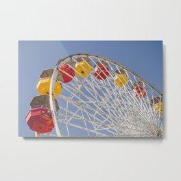 California Wheelin - Santa Monica Pier Metal Print