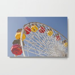 California Wheelin - Santa Monica Pier Metal Print