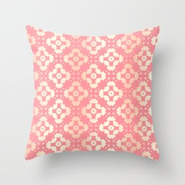Pattern Abstrait Formes Rose/Doré Throw Pillow
