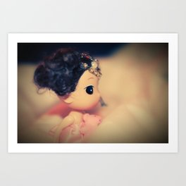 BABY PINK DOLL Art Print
