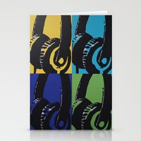 headphones Stationery Cards featuring Headphones by Brianms18