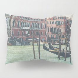 looking along the Grand Canal in Venice Pillow Sham