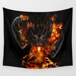 Dragon Negro DNIII Wall Tapestry