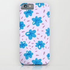 Gentle Blue Flowers Pattern iPhone 6s Slim Case