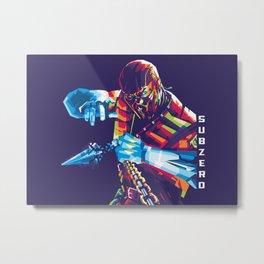 Sub Zero PopArt Metal Print