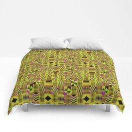 Kente Cloth // Fuego  & Violet-Red Comforters